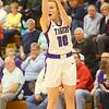 1-24-20<br /> Northwestern vs Benton Central girls basketball Hoosier conference<br /> NW's Klair Merrell shoots a three.<br /> Kelly Lafferty Gerber | Kokomo Tribune