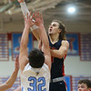 1-31-20<br /> Maconaquah vs Cass boys basketball<br /> Cass' Easton Good shoots.<br /> Kelly Lafferty Gerber | Kokomo Tribune