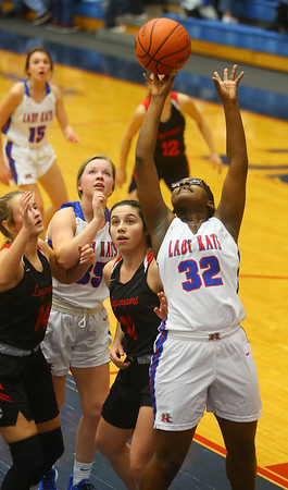 1-10-20<br /> Kokomo vs Logansport girls basketball<br /> Kokomo's Sanighia Balantine shoots.<br /> Kelly Lafferty Gerber | Kokomo Tribune
