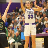 1-24-20<br /> Northwestern vs Benton Central girls basketball Hoosier conference<br /> NW's Madison Layden shoots.<br /> Kelly Lafferty Gerber | Kokomo Tribune