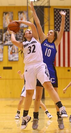 1-16-20<br /> Western vs Carroll girls basketball<br /> Western's Caroline Long shoots.<br /> Kelly Lafferty Gerber   Kokomo Tribune