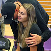 Madison Layden gets a hug from her dad, Jeff, after Madison officially signed with Purdue on Nov. 13.<br /> Kelly Lafferty Gerber | Kokomo Tribune