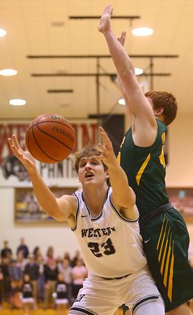 1-25-20<br /> Western vs Eastern boys basketball<br /> <br /> Kelly Lafferty Gerber | Kokomo Tribune