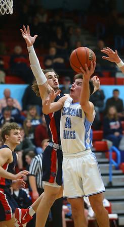 1-31-20<br /> Maconaquah vs Cass boys basketball<br /> Mac's Hayden Maiben shoots.<br /> Kelly Lafferty Gerber   Kokomo Tribune