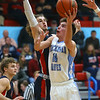 1-31-20<br /> Maconaquah vs Cass boys basketball<br /> Mac's Hayden Maiben shoots.<br /> Kelly Lafferty Gerber | Kokomo Tribune