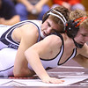 1-18-20<br /> Hoosier Conference wrestling tournament<br /> Western's Chandler Ciscell defeats RC's Lakin Webb in the 126.<br /> Kelly Lafferty Gerber | Kokomo Tribun