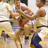 1-3-20<br /> Western vs Oak Hill boys basketball<br /> Western's Jett Engle looks to get past Oak Hill defense.<br /> Kelly Lafferty Gerber   Kokomo Tribune