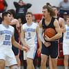 1-31-20<br /> Maconaquah vs Cass boys basketball<br /> Cass' Easton Good celebrates after a foul is called on Maconaquah.<br /> Kelly Lafferty Gerber | Kokomo Tribune