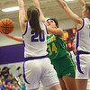 1-8-20<br /> Northwestern vs Eastern girls basketball<br /> Eastern's Jeanie Crabtree puts up a shot.<br /> Kelly Lafferty Gerber | Kokomo Tribune