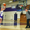 McKenna Layden shoots freethrows as her grandfather Dave Wise rebounds for her after practice on Dec. 6.<br /> Kelly Lafferty Gerber | Kokomo Tribune