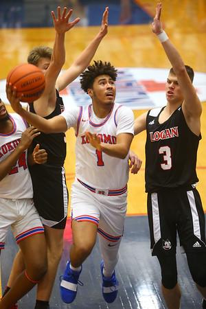 1-10-20<br /> Kokomo vs Logansport girls basketball<br /> Kokomo's Savion Barrett heads to the basket.<br /> Kelly Lafferty Gerber | Kokomo Tribune