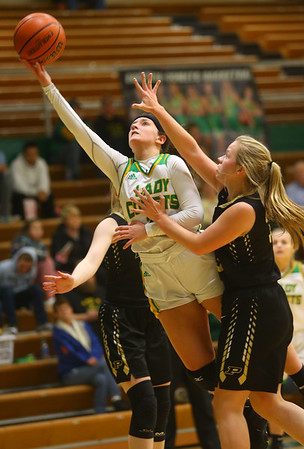 1-30-20<br /> Eastern vs Peru girls basketball<br /> Eastern's Jeanie Crabtree puts up a shot.<br /> Kelly Lafferty Gerber   Kokomo Tribune