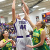 1-8-20<br /> Northwestern vs Eastern girls basketball<br /> NW's Kendall Bostic shoots.<br /> Kelly Lafferty Gerber | Kokomo Tribune