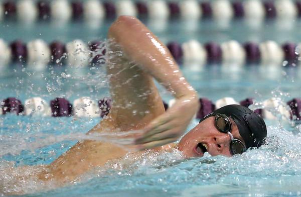 1-28-20<br /> Northwestern vs Western swimming<br /> Western's Cullen Dalpoas in the boys 200 yard freestyle.<br /> Kelly Lafferty Gerber   Kokomo Tribune