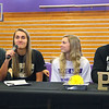 From left: Kathie Layden, Madison Layden, McKenna Layden, and Jeff Layden support Madison, who officially signed with Purdue on signing day at Northwestern on Nov. 13.<br /> Kelly Lafferty Gerber | Kokomo Tribune