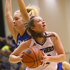 1-16-20<br /> Western vs Carroll girls basketball<br /> Western's Sadie Harding looks to the basket.<br /> Kelly Lafferty Gerber | Kokomo Tribune
