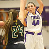 1-24-20<br /> Northwestern vs Benton Central girls basketball Hoosier conference<br /> NW's Kendall Bostic shoots.<br /> Kelly Lafferty Gerber | Kokomo Tribune