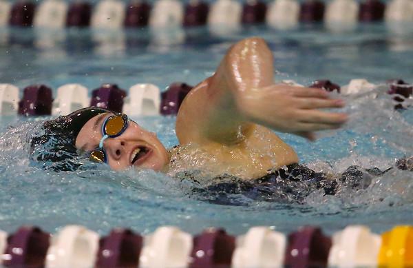 1-28-20<br /> Northwestern vs Western swimming<br /> Western's Anna Moore in the girls 200 yard freestyle.<br /> Kelly Lafferty Gerber | Kokomo Tribune
