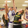 1-24-20<br /> Northwestern vs Benton Central girls basketball Hoosier conference<br /> NW's Kendall Bostic grabs a rebound.<br /> Kelly Lafferty Gerber | Kokomo Tribune