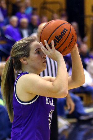 Northwestern's Ellie Boyer puts up a shot as Western High School hosts Northwestern girls basketball on January 21, 2020.<br /> Tim Bath | Kokomo Tribune