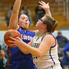 1-22-20<br /> Tri Central vs Elwood girls basketball<br /> Tri Central's #44 looks up for a shot.<br /> Kelly Lafferty Gerber | Kokomo Tribune