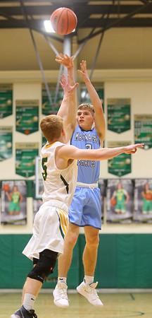 1-7-20<br /> Eastern vs Maconaquah boys basketball<br /> Mac's Nolan Kelly puts up a shot.<br /> Kelly Lafferty Gerber | Kokomo Tribune