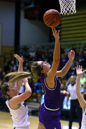 Madison Layden puts up a shot in the first half as Western High School hosts Northwestern girls basketball on January 21, 2020.<br /> Tim Bath | Kokomo Tribune