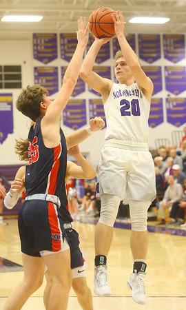 1-24-20<br /> Northwestern vs Cass boys basketball<br /> NW's Austin O'Neal shoots.<br /> Kelly Lafferty Gerber   Kokomo Tribune