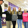 Jeff Layden comes in for a group photo alongside from left: Kathie Layden, his wife, their two daughters McKenna and Madison Layden, and Kathie's parents Joyce and Dave Wise on Nov. 13.<br /> Kelly Lafferty Gerber | Kokomo Tribune