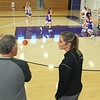 Head coach of the Northwestern Tigers Kathie Layden, right, talks with her dad and assistant coach Dave Wise during pratice on Dec. 6.<br /> Kelly Lafferty Gerber | Kokomo Tribune