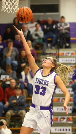 1-24-20<br /> Northwestern vs Benton Central girls basketball Hoosier conference<br /> NW's Madison Layden shoots.<br /> Kelly Lafferty Gerber | Kokomo Tribune