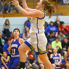 1-22-20<br /> Tri Central vs Elwood girls basketball<br /> Tri Central's Cassidy Colbert heads to the basket.<br /> Kelly Lafferty Gerber | Kokomo Tribune