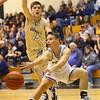 1-3-20<br /> Western vs Oak Hill boys basketball<br /> Western's Jett Engle tosses a pass.<br /> Kelly Lafferty Gerber   Kokomo Tribune