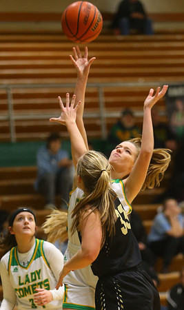 1-30-20<br /> Eastern vs Peru girls basketball<br /> Eastern's Lily Strunk shoots.<br /> Kelly Lafferty Gerber | Kokomo Tribune