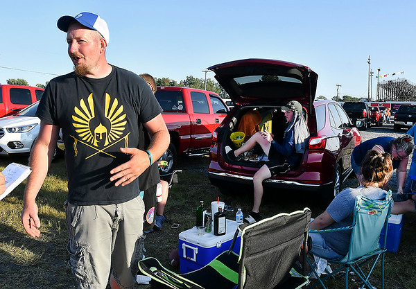 "Jon Menefee, of Anderson, was enjoying drinks with his friends saying ""we're here with the same goal, to have a good time, and watch a good race."""
