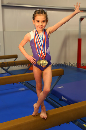 Halle Hillis metaled in the state championship level 2. Hillis with her medals on March 12, 2020. <br /> Tim Bath | Kokomo Tribune