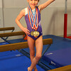 Halle Hillis metaled in the state championship level 2. Hillis with her medals on March 12, 2020. <br /> Tim Bath   Kokomo Tribune