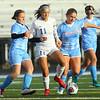 10-1-20<br /> Maconaquah vs Kokomo girls soccer<br /> Kokomo's Nicole Burdette takes control of the ball with Mac's Makenna Wilson and Rachel Little at her side.<br /> Kelly Lafferty Gerber   Kokomo Tribune