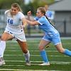 10-1-20<br /> Maconaquah vs Kokomo girls soccer<br /> Kokomo's Kate Mayfield goes after the ball as Mac's Molly Nord tries to break through.<br /> Kelly Lafferty Gerber   Kokomo Tribune