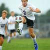 9-1-20<br /> Northwestern vs Western boys soccer<br /> NW's Jackson Hale tries to ground the ball.<br /> Kelly Lafferty Gerber | Kokomo Tribune