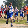 Caston's Austin Dague (436) competes during the Cass County cross country meet at Logansport High School on Saturday, Aug. 28, 2021. Dague finished first while Caston placed fourth.