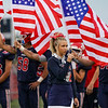 The 13 service members killed last week in Afghanistan are honored before a game between the Lewis Cass Kings and Delta Eagles at Owens Memorial Field in Walton on Friday, Sept. 3, 2021.