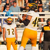 Pioneer Panthers receiver Caleb Sweet (40) catches a pass during a game at Caston High School in Fulton on Friday, Sept. 10, 2021.