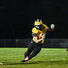 A Pioneer Panthers player runs the ball during the first half of a game at the Pit in Royal Center on Friday, Oct. 1, 2021.