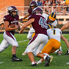 Winamac Warriors running back Jaden Terry (1) runs the ball during an HNAC game between the Winamac Warriors and Pioneer Panthers at Winamac High School on Friday, Aug. 27, 2021.