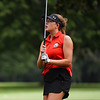 Logansport's Sophia Kay follows her shot during a game against Rochester Community High School at Dykeman Park Golf Course in Logansport on Tuesday, Sept. 7, 2021.