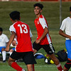 Logansport Berries forward Cesar Perez (10) smiles after scoring the first goal during the season opener between the Logansport Berries and Frankfort Hotdogs at Logansport High School on Tuesday, Aug. 17, 2021.