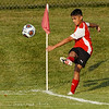 A Logansport Berries player kicks the ball during the season opener between the Logansport Berries and Frankfort Hotdogs at Logansport High School in Logansport on Tuesday, Aug. 17, 2021.