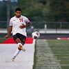 Logansport Berries defender Juan Valencia (14) kicks the ball during the Logansport sectional at Logansport Memorial Hospital Stadium on Monday, Oct. 4, 2021.
