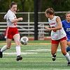 Logansport Berries midfielder Fabiana Diego-Francisco (3) passes to defender Arlene Frutos (8) during the first half of the Class 3A sectional semifinal at McCutcheon High School in Lafayette on Thursday, Oct. 7, 2021.